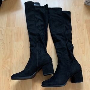 NEW Call it Spring Black Knee High Boots
